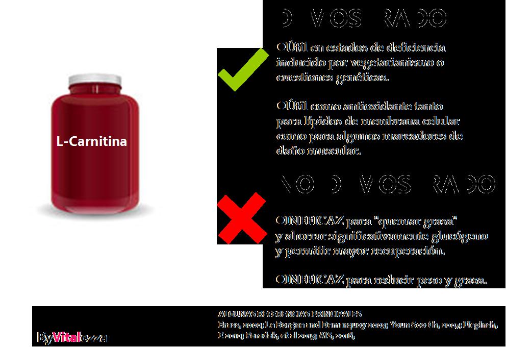 La carnitina si sirve para bajar de peso